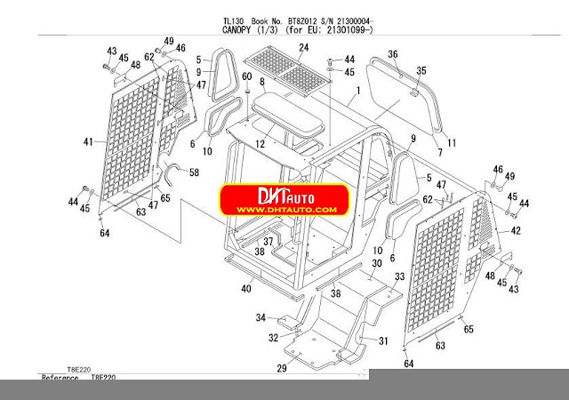 En.Oto-hui.com: Takeuchi Excavator TL130 Parts Manual