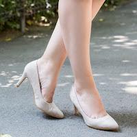 Pantofi dama Fanni bej Stiletto • modlet