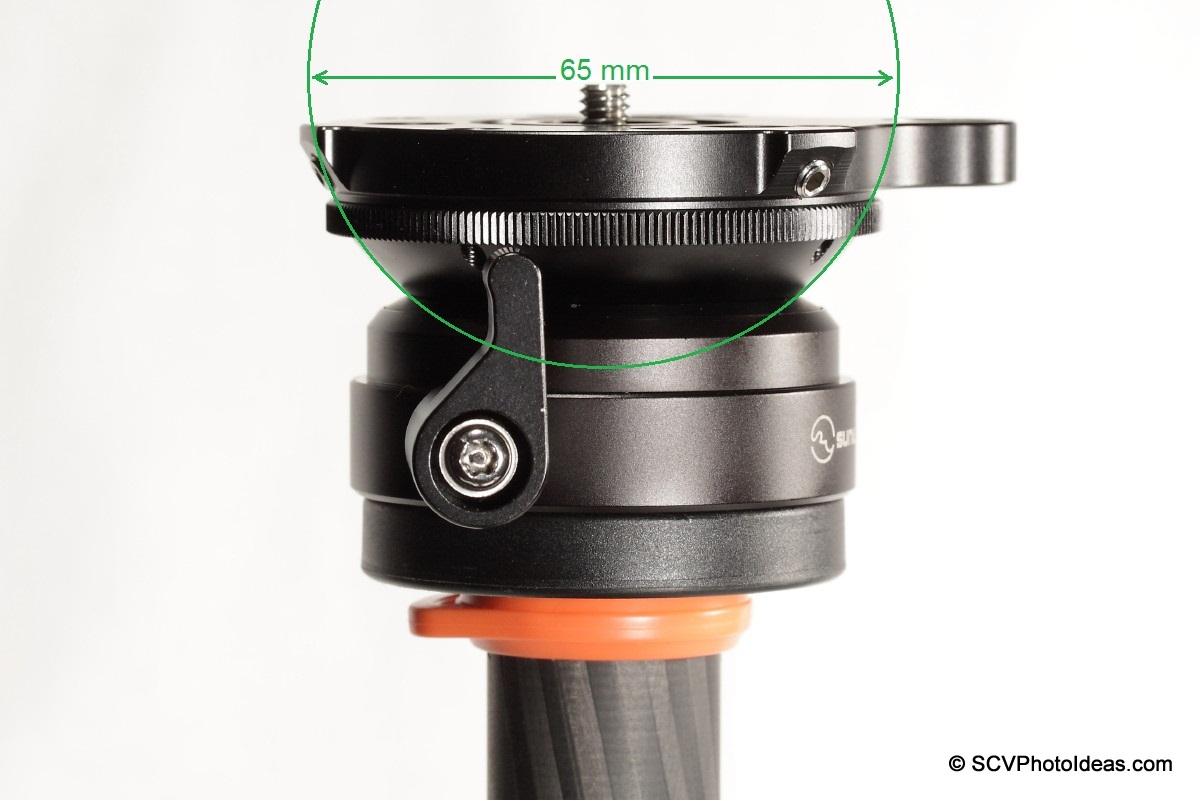 Sunwayfoto DYH-66i ball diameter