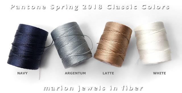 C-Lon Bead Cord Pantone Spring 2018 Classic Color Palette