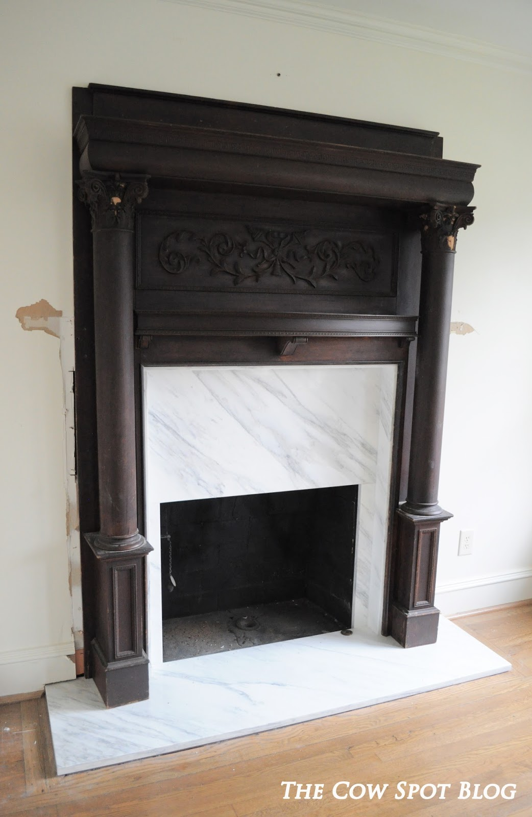 and we had ourselves a beautiful finished marble fireplace surround
