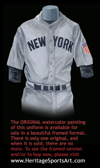 buy online 6f459 1918d New York Yankees Uniform and Team History | Heritage ...