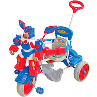 blue robot royal baby tricycle