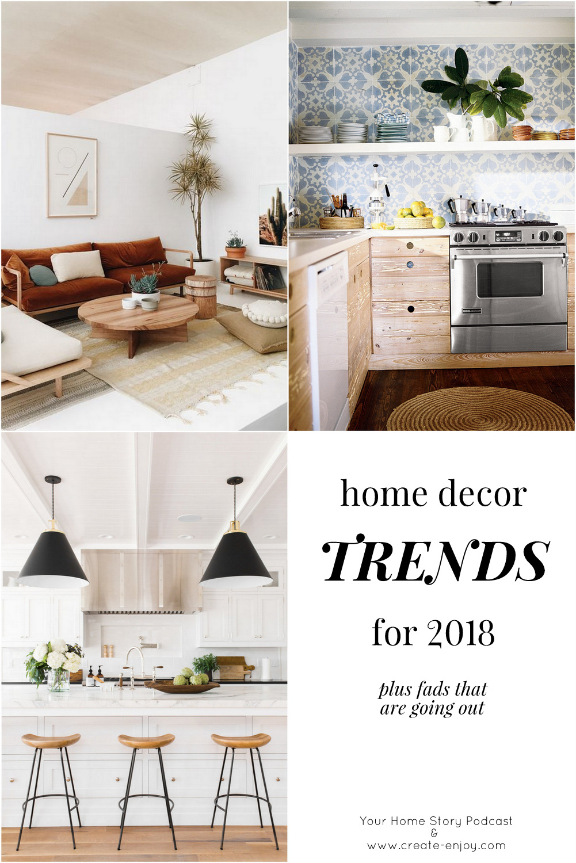 Home Decor Trends for 2018 / Create / Enjoy