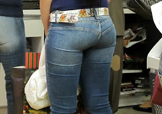 Young girls tight jeans