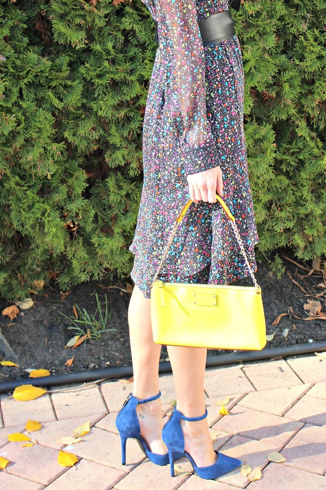 yellow kate spade clutch