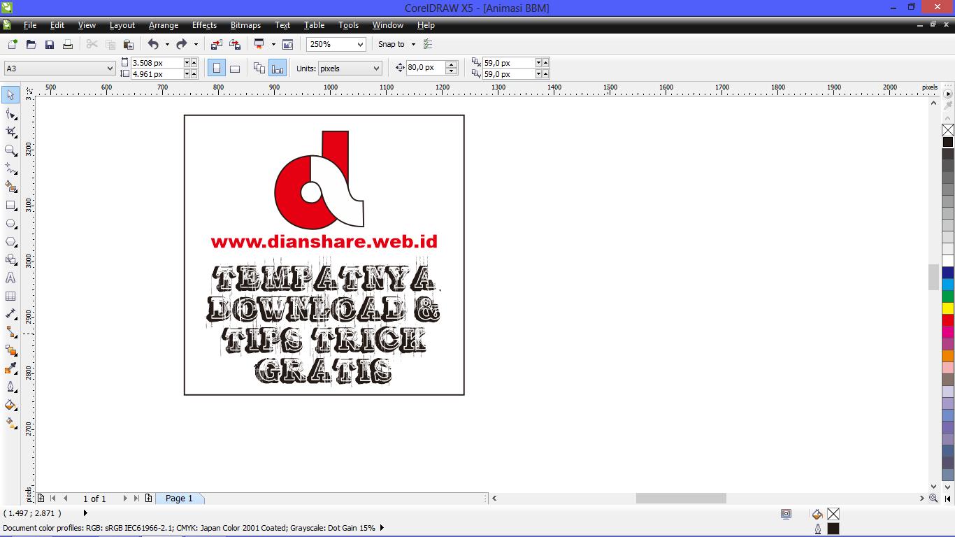 Cara Membuat Animasi DP BBM Dengan Software CorelDraw Dan