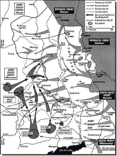Eastern front maps after Stalingrad