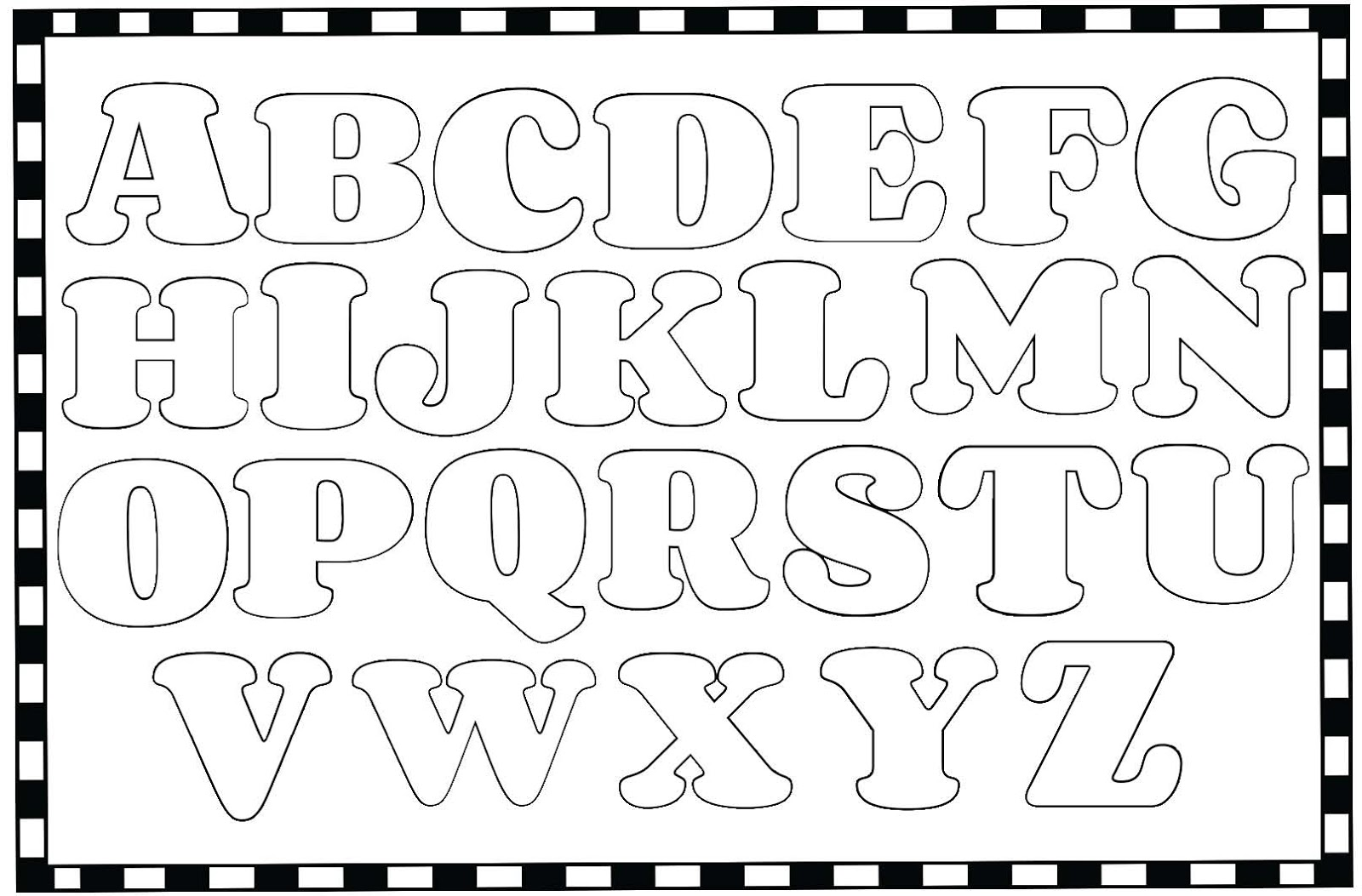 """Color Me"" Alphabet Poster"