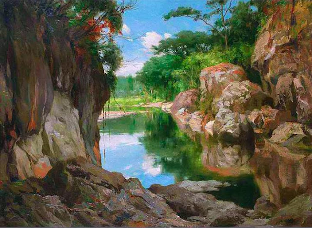 Fernando Amorsolo  - Sibul River, Zamboanga Del Sur