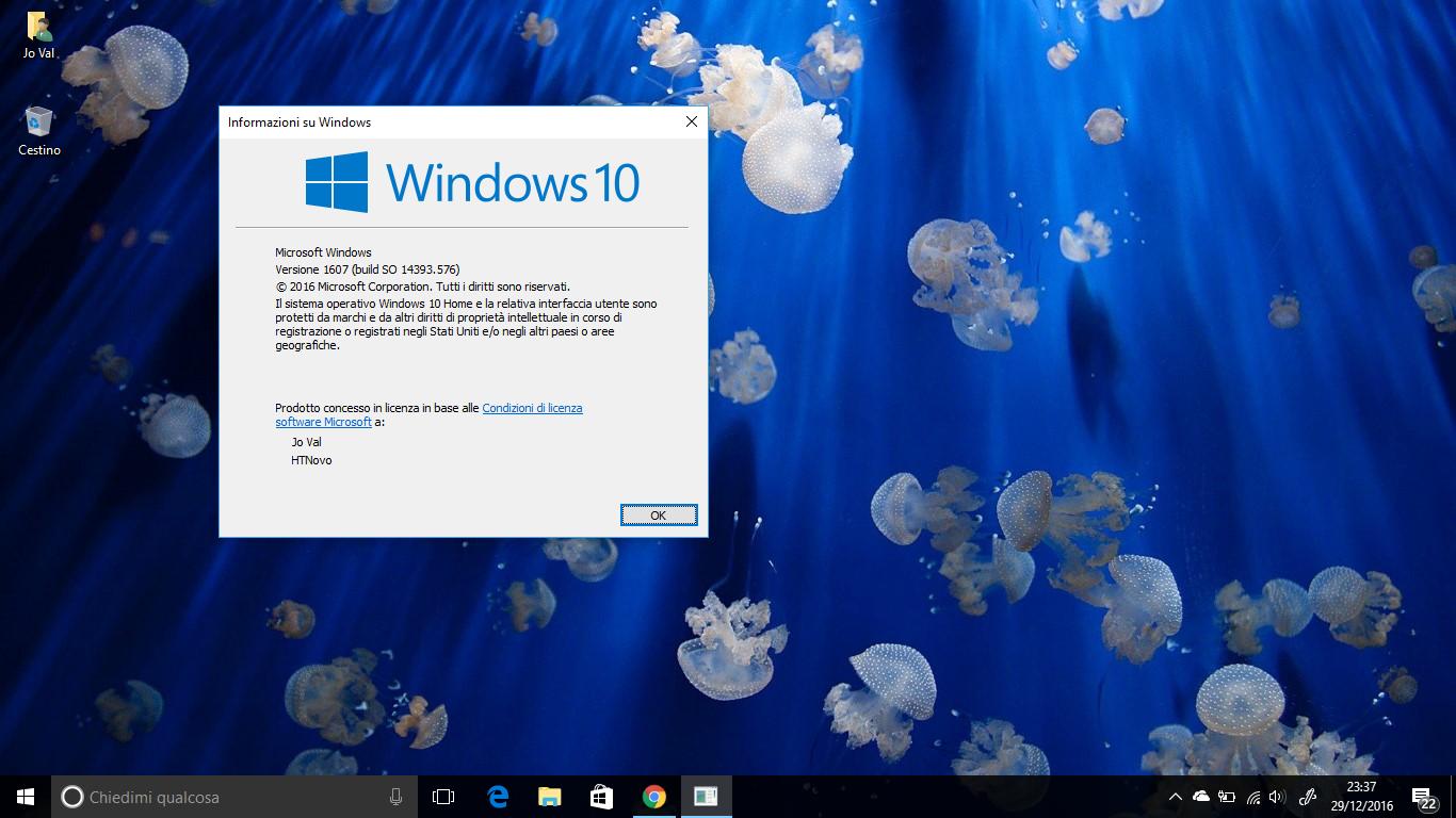 Come cambiare le info registrate su Proprietario e Organizzazione in Windows 10 HTNovo