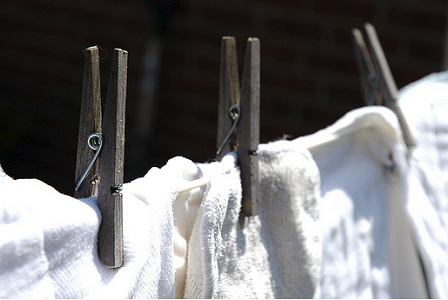 Image: Hanging the diapers out to dry, by Hannah Ball, on Flickr