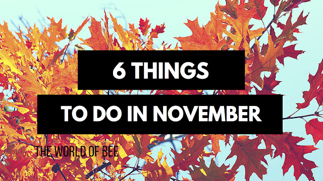 6 Things to Do In November