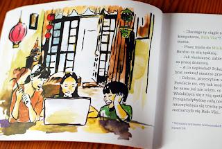 Wnętrze książki, przykładowe ilustracje