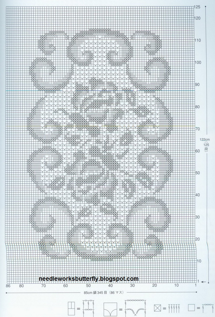 NeedleWorks Butterfly Filet Crochet Doilies With Patterns