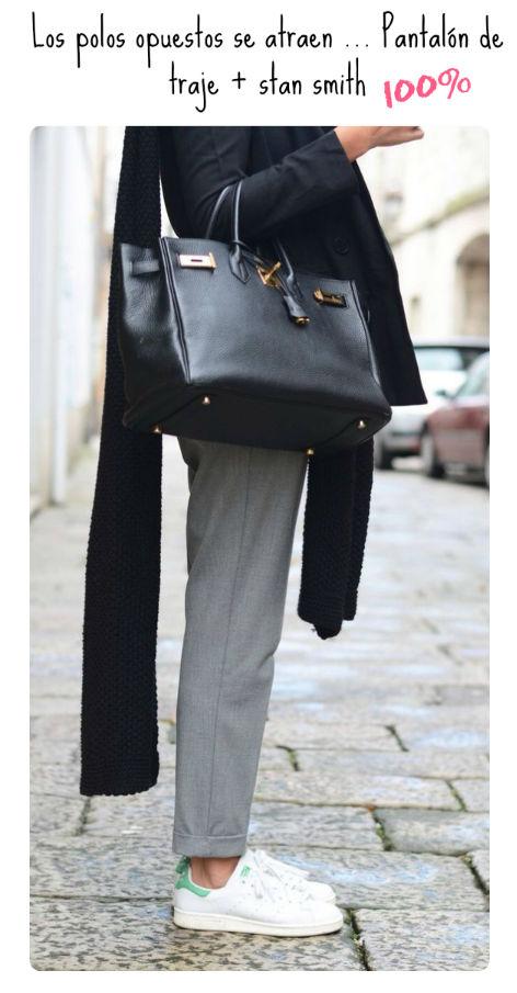 ideas para vestir oficina zapatillas