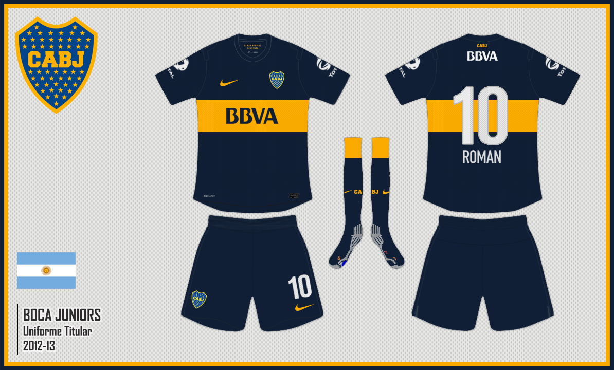 Niiko Kits: Boca Juniors (ARG) 2012-13 [Home Kit]