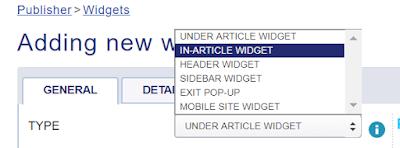 in article widget