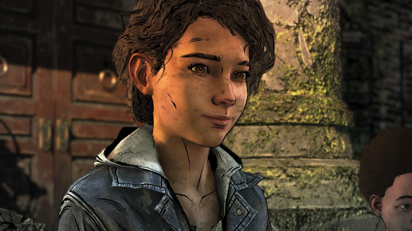 Clem bizakodóan mosolyog.