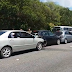 Engavetamento entre cinco veículos deixa feridos em JP