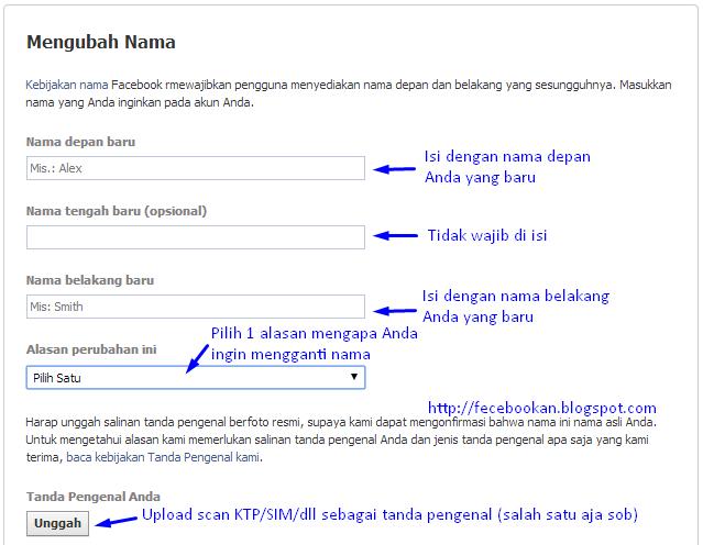 Cara Mengganti Nama Facebook Mudah & Cepat 2014