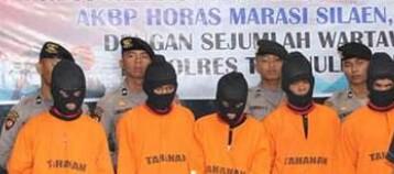 Komplotan pasutri pencuri Rp635 juta di Taput yang diringkus polisi