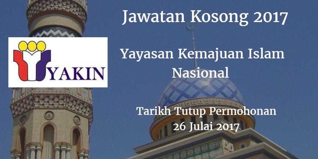 Jawatan Kosong YAKIN 26 Julai 2017