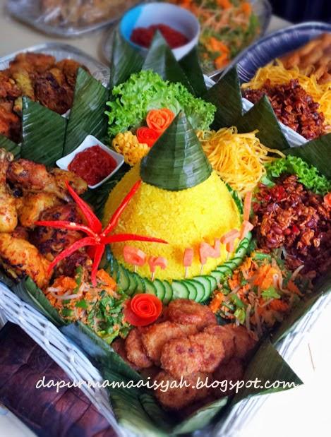Resep Nasi Tumpeng : resep, tumpeng, Dapur, Aisyah:, Tumpeng, Kuning