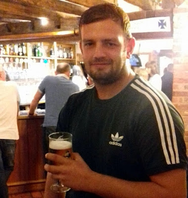 Broughton cricketer all-rounder Shaun Clark enjoying a pint at the Yarborough Hunt pub in Brigg
