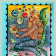 VINTAGE : MERMAID FABRIC BLOCKS