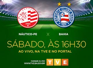 TVE Bahia transmite confronto entre Náutico e Bahia