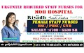 Urgently Required Staff Nurse For MOH Hospital Riyadh, Saudi Arabia