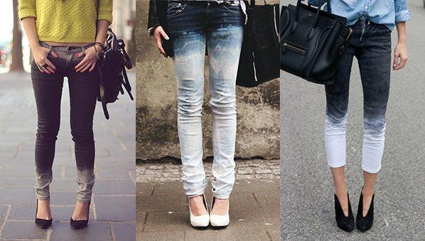 Cara Membuat Celana Jeans Ombre Gradasi Warna