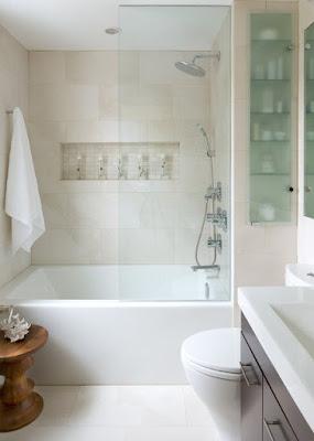 แบบห้องน้ำขนาดเล็กพร้อมอ่างอาบน้ำ