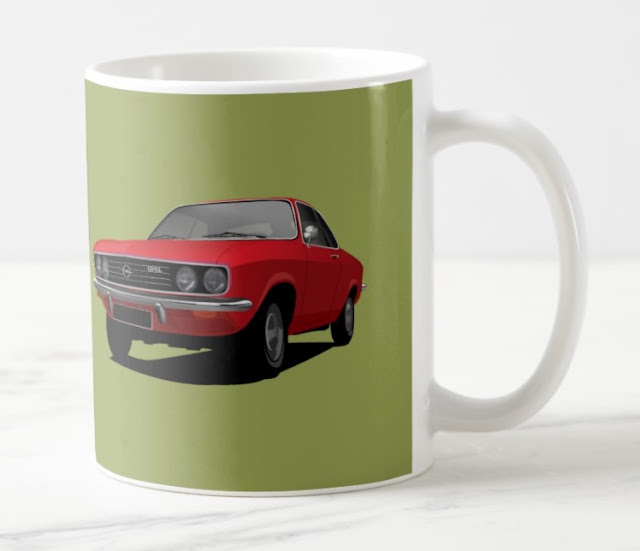 Opel Manta A in red - coffee mugs