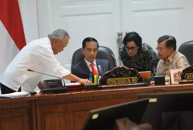 Jokowi, Jusuf Kalla, Sri Mulyani, Darmin Nasution