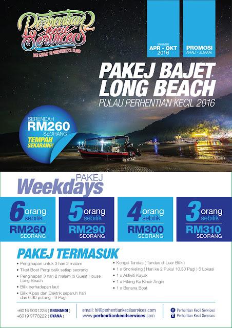 pakej bajet long beach perhentian 2016