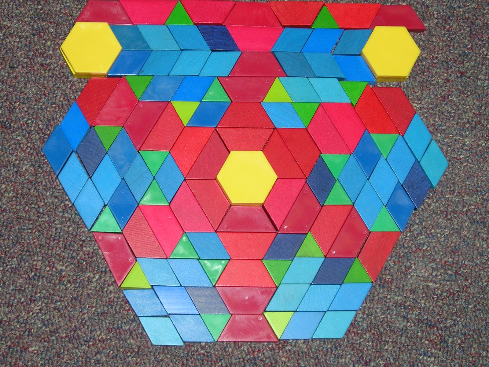 Tales From A K 1 Classroom Symmetry With Pattern Blocks