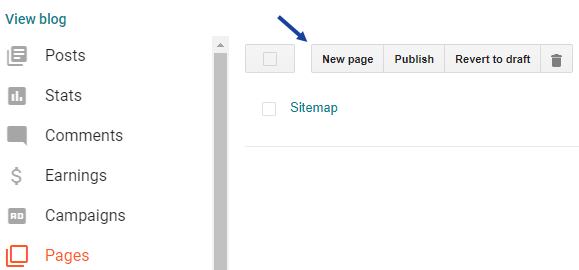 Adding Sitemap Page to Blogspot