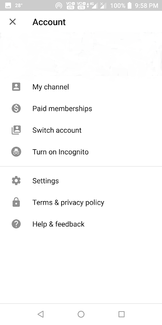 YouTube Incognito Mode पर कैसे Switch करें?