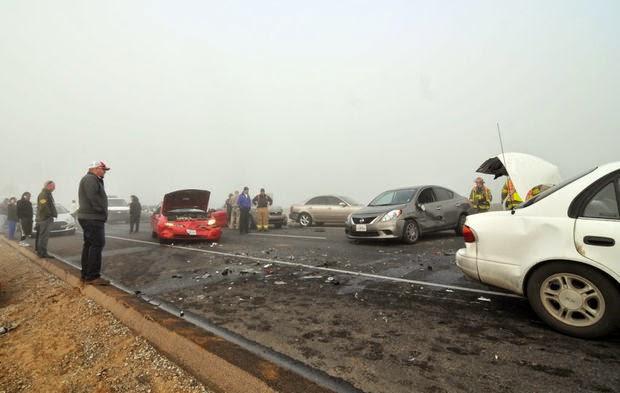 fog twenty car crashes kings county highway 198 hanford lemoore