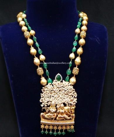 Radha Krishna Pendant Beads Mala