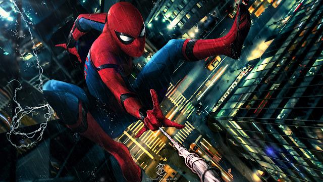 Spider Man, Spidey, Peter Parker, Marvel, Tom Holland, Digital Art, Digital Paint, Digital Drawing, DC Designs, David C.Designs