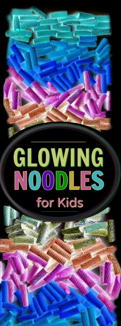 FUN KID PROJECT:  Make glow-in-the-dark noodles for arts, crafts, and sensory play.  This is awesome!