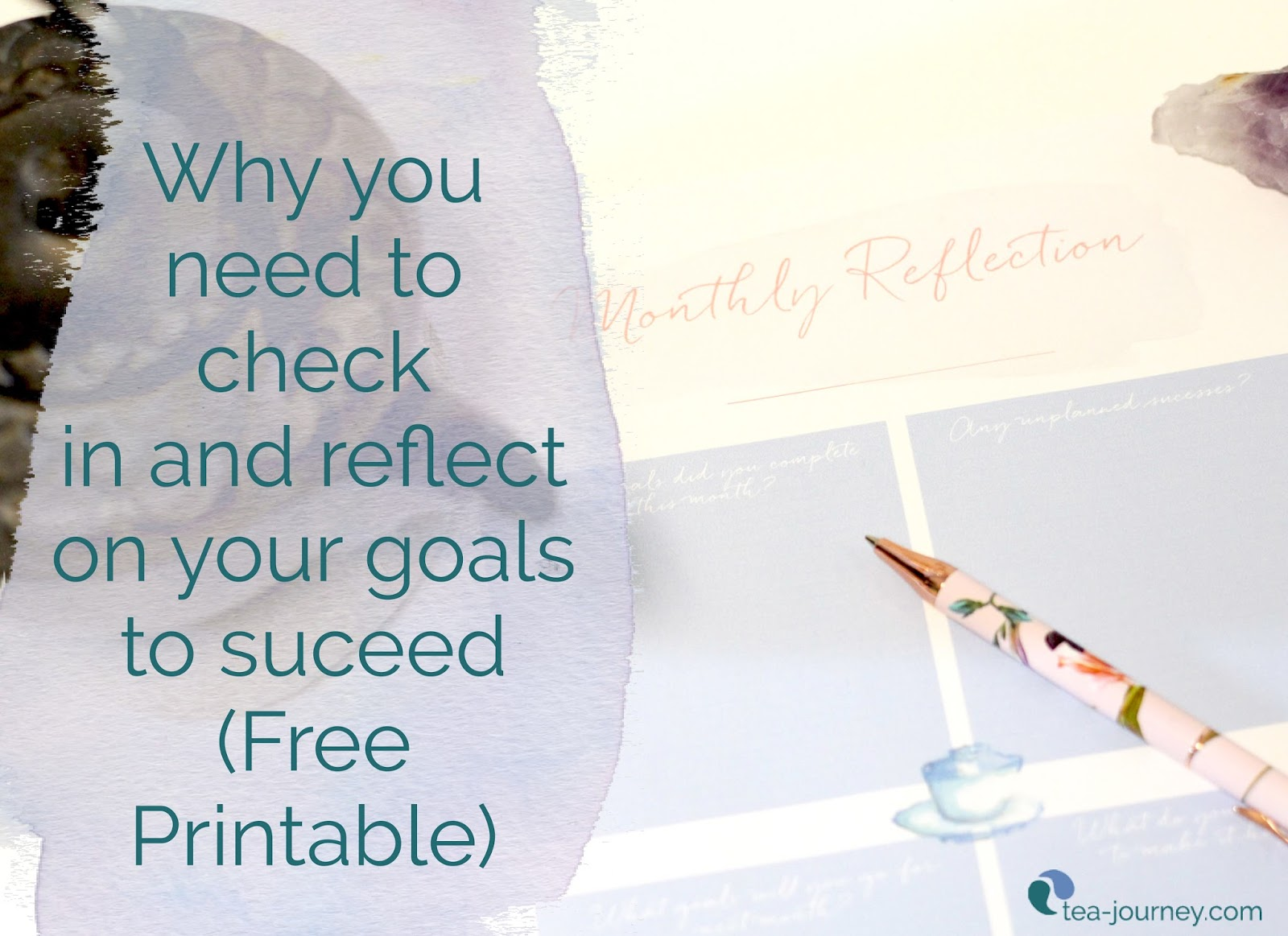 (Free Printable) Reflecting on your goals at regular intervals is important for reaching them. We will give you the questions to answer and why they are important.