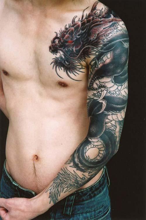 angry dragon tattoos kızgın ejderha dövmeleri