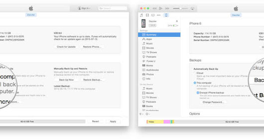 How to make an archived back up your iPhone or iPad Easily