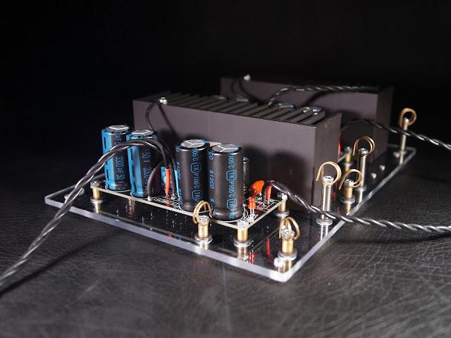 """Собранные на основание усилительные модули """"Кристалл"""" (на микросхеме TDA7294)"""