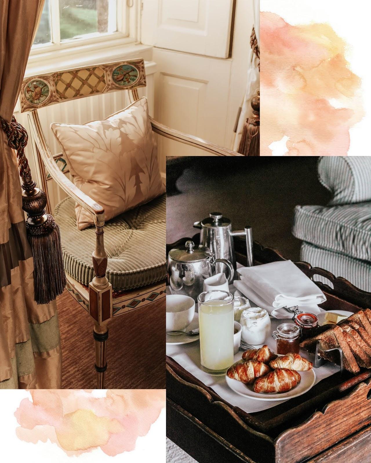 Ston Easton Park Hotel Room Service Tray Breakfast
