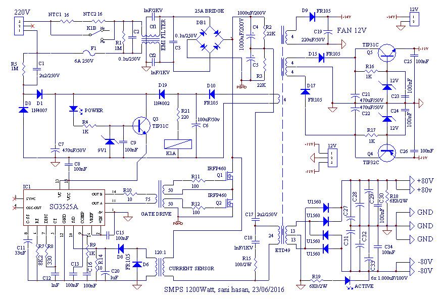 Audio Kreatif  Skema Smps 1200watt